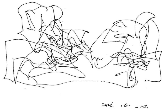 Frank Gehry drawing