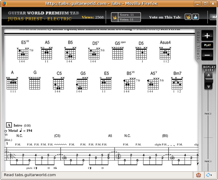 Guitar u00bb Guitar Tabs Seven Nation Army - Music Sheets, Tablature, Chords and Lyrics