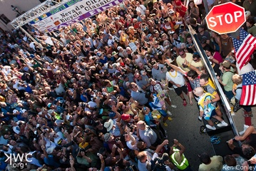 Lance Armstrong Post-Race, (c) Ken Conley