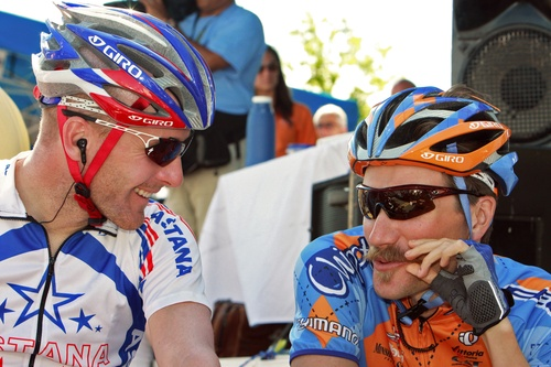 Dave Zabriskie (right) is looking to unseat defending champion Levi Leipheimer (left) at this years Tour of California.