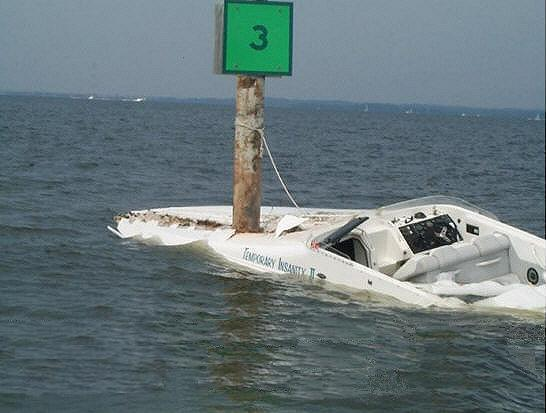 The associated story claimed that the speed boat was only going 25 mph when ...